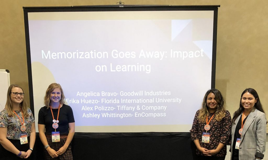 Erika Huezo & other presenters, Learning 2018 conference session