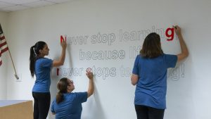 FIO Online teamsters beautify Edison High.