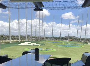 View from Topgolf bay dock