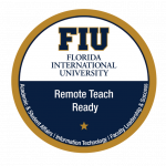FIU Remote Teach Ready Badge