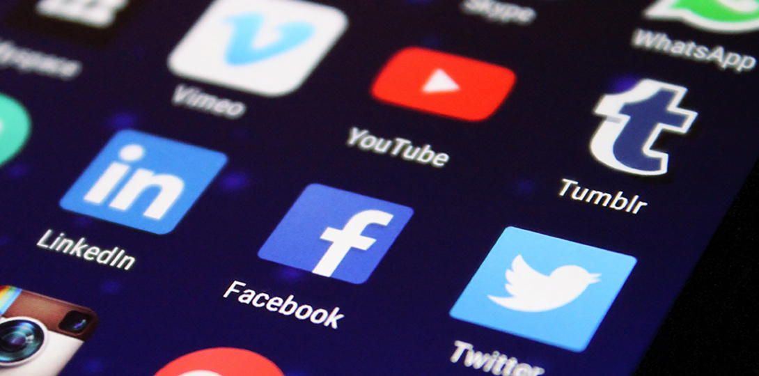 Social Media app screen