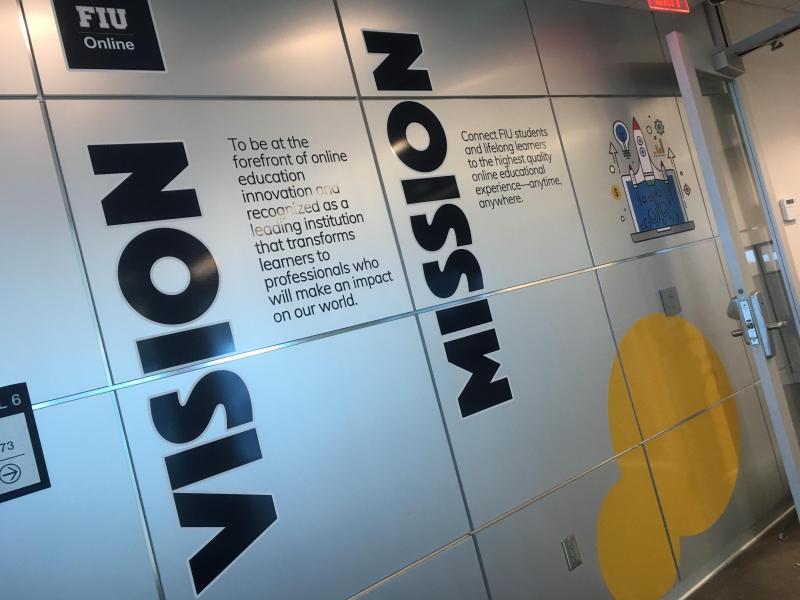 FIU Online Mission & Vision Wall