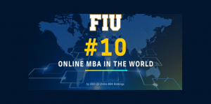 2021 FIU Online MBA Top 10 in the World